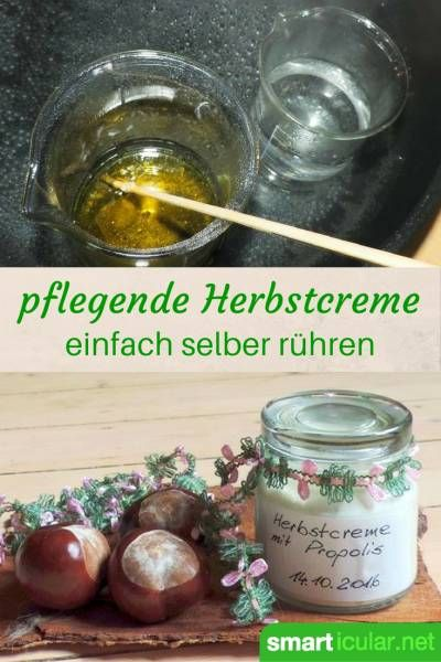 pflegende hautcreme f r den herbst selbstgemacht mit propolis natur kosmetik selbstgemacht. Black Bedroom Furniture Sets. Home Design Ideas