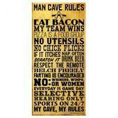 "Photo of Man Cave Rules – 11 ""x 23"" Metallschild, #bar #Cave #Man #Metal #Recreationalroommancave # …"