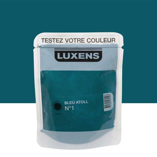 Testeur Peinture Couleurs Intérieures Luxens Bleu Atoll N1