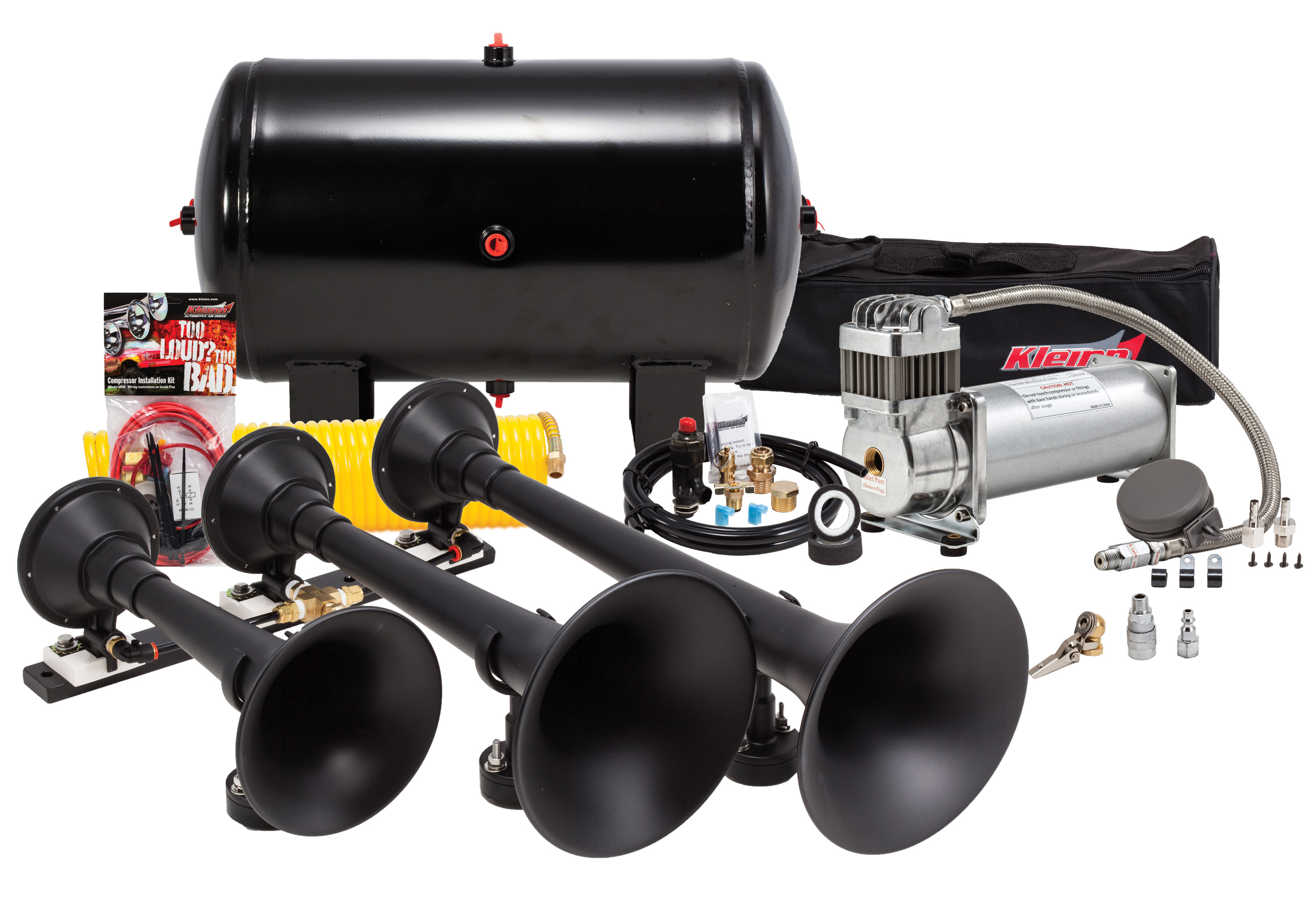 Kleinn HK9 Triple Train Horn Kit Truck horn, Chevy