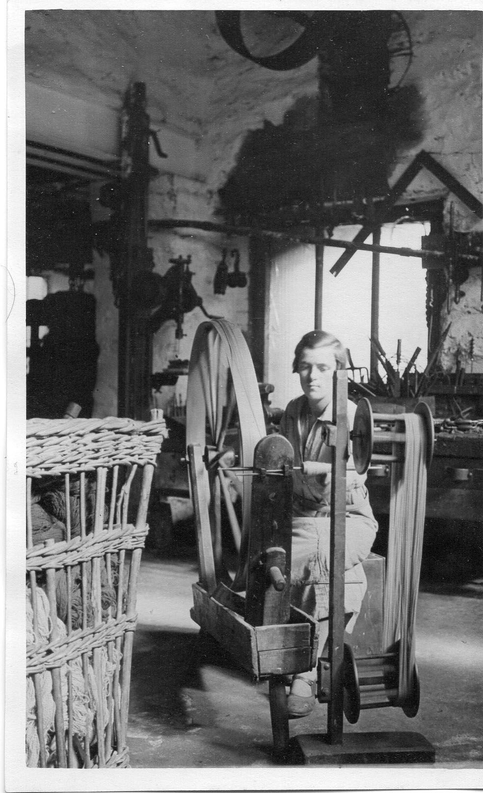 C Savage Photograph Industry - A Scene in a Woollen Mill Woman at Loom