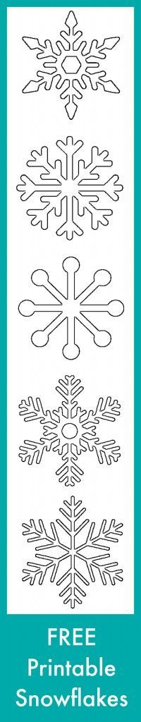 Free Printable Snowflake Templates – Large & Small Stencil Patterns ...