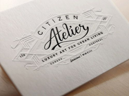 Unique Letterpress Business Cards - Citizen Atelier2 letterpress - Letterpress Business Card