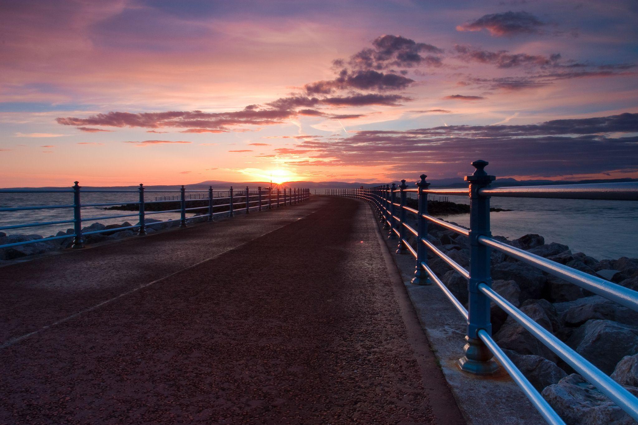morecambe u0027s stony pier stretching out to sea lancashire