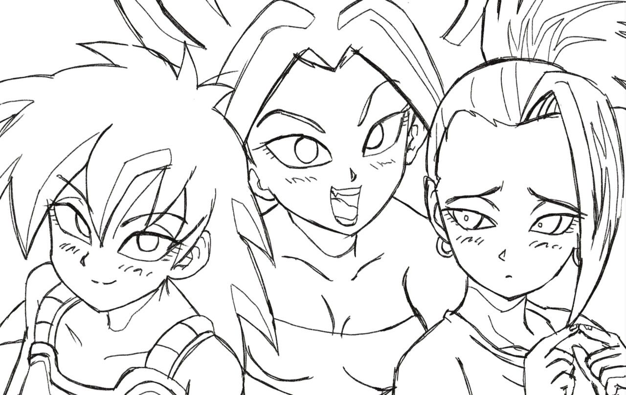 Gine And Caulifla Kale Dragon Ball Imagenes De Goku Dragon
