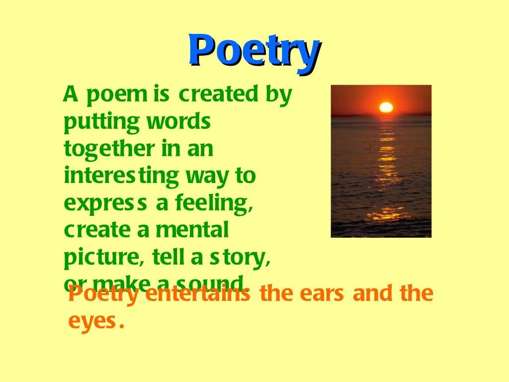 A Fun 4th Grade Poetry Lesson Students Should Be