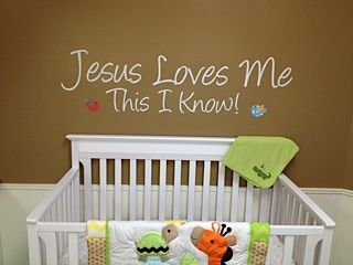 Jesus Loves Me Wall Decal From Trading Phrases Childrens - Wall decals for church nursery
