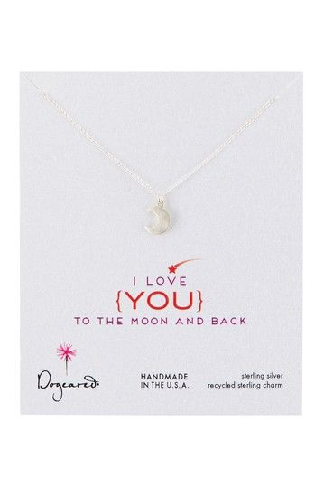 I Love You Moon Glow Necklace on HauteLook