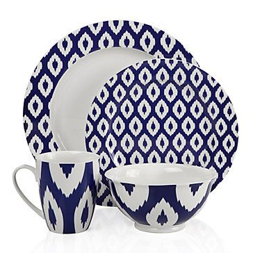 Z Gallerie - Kenza Dinnerware - Indigo  sc 1 st  Pinterest & Whyyyyyy... did i not buy this when I first saw it in the store ...