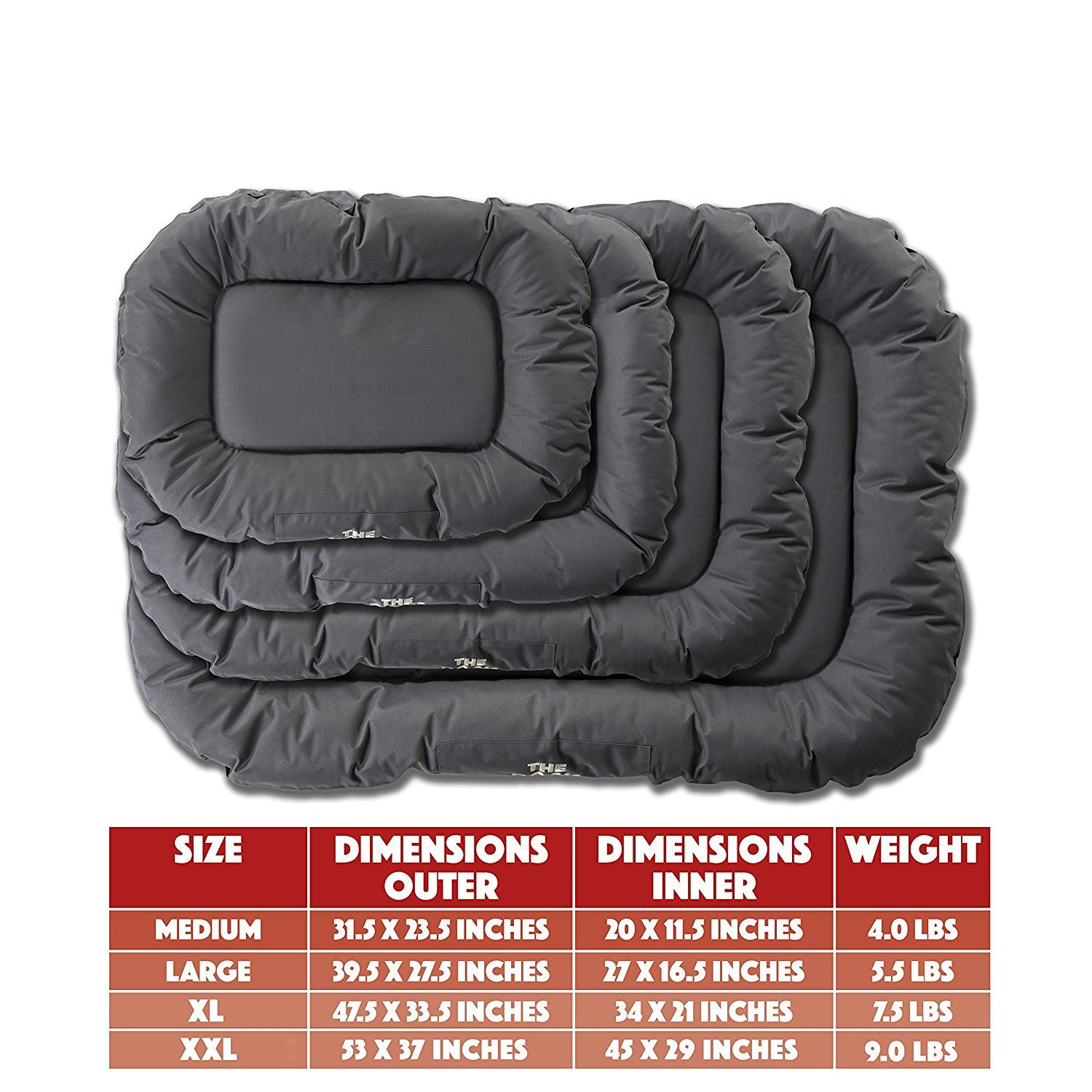 The Dog S Bed Premium Waterproof Dog Beds 5 Sizes 7 Colors