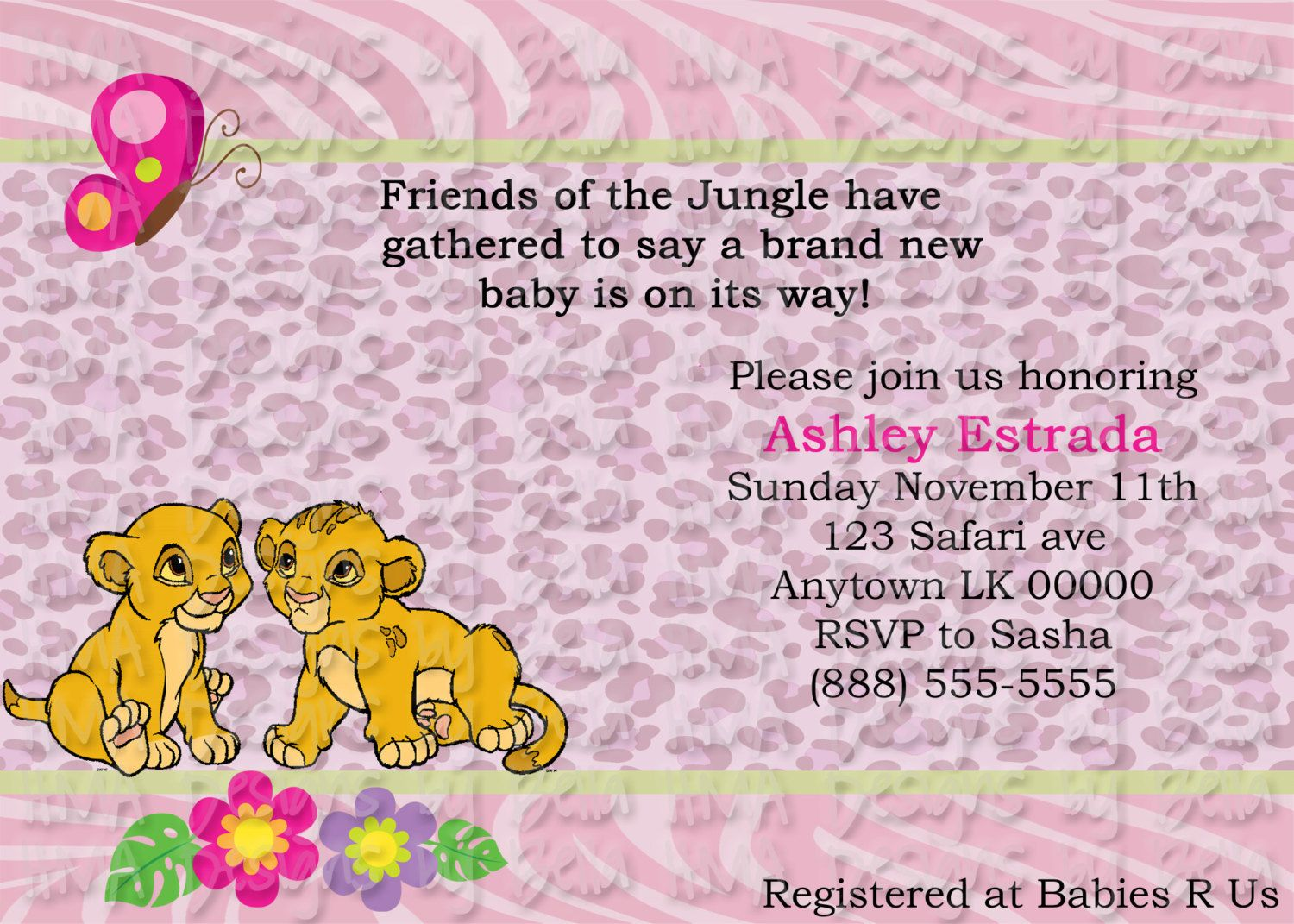 Girl Lion King Invite by HMADesignsbyBella on Etsy, $10.00 | Lion ...