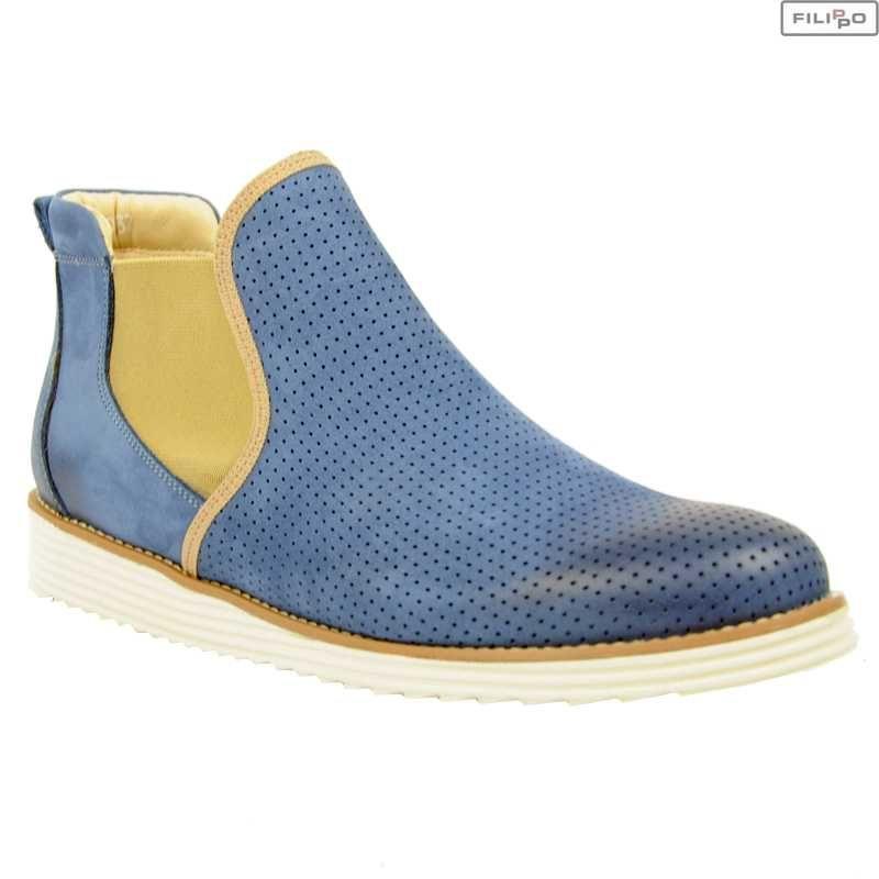Botki Karino 1710 058 Niebieski 8022718 Botki Na Plaskim Obcasie Botki Buty Damskie Kolekcja Premium Filippo Pl Blue Shoes Boots Shoes