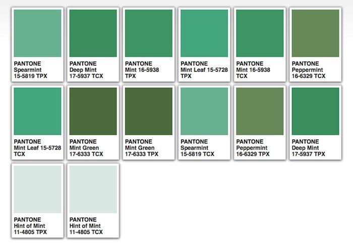 Mint Condition Pantone Green Colour Palette Mint Wedding Themes