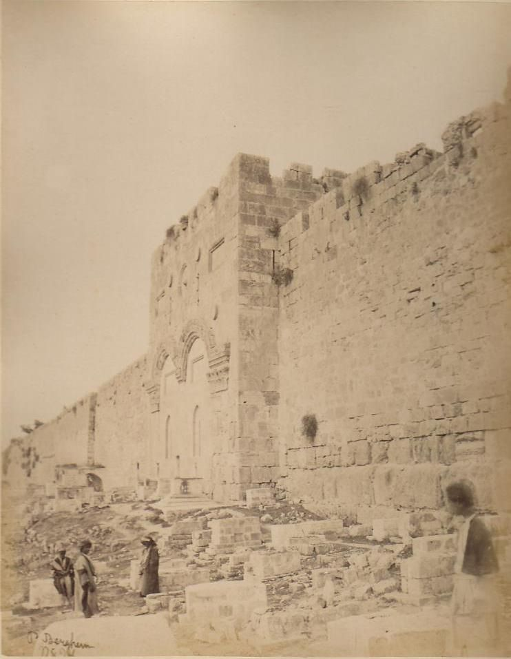 باب الرحمة القدس ١٨٦٠ Palestine History Holy Land Israel Old Pictures