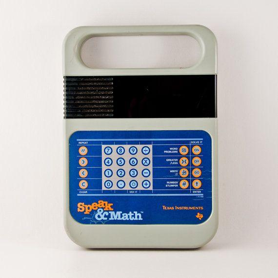 vintage speak math game geek chic geekery gift for him 1980s rh pinterest com