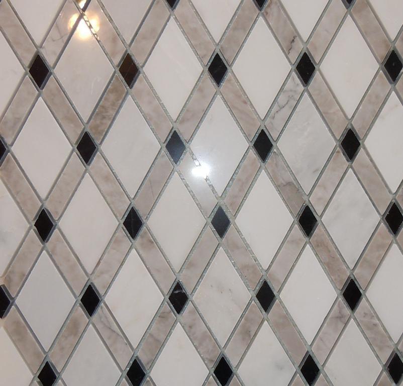 Lattice Rhomboid Tile Diamond Tile Marble Mosaic By