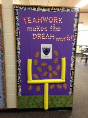 Announcing This Year S School Wide Theme School Wide Themes Classroom Decor High School Sports Bulletin Boards
