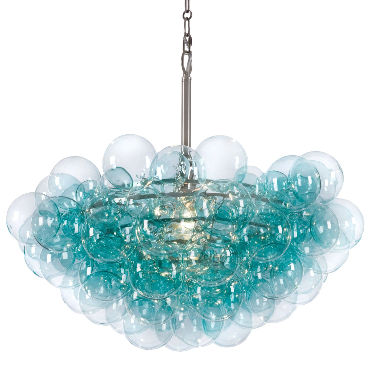Regina Andrew Aqua Bubbles Chandelier Zinc Door For over dining