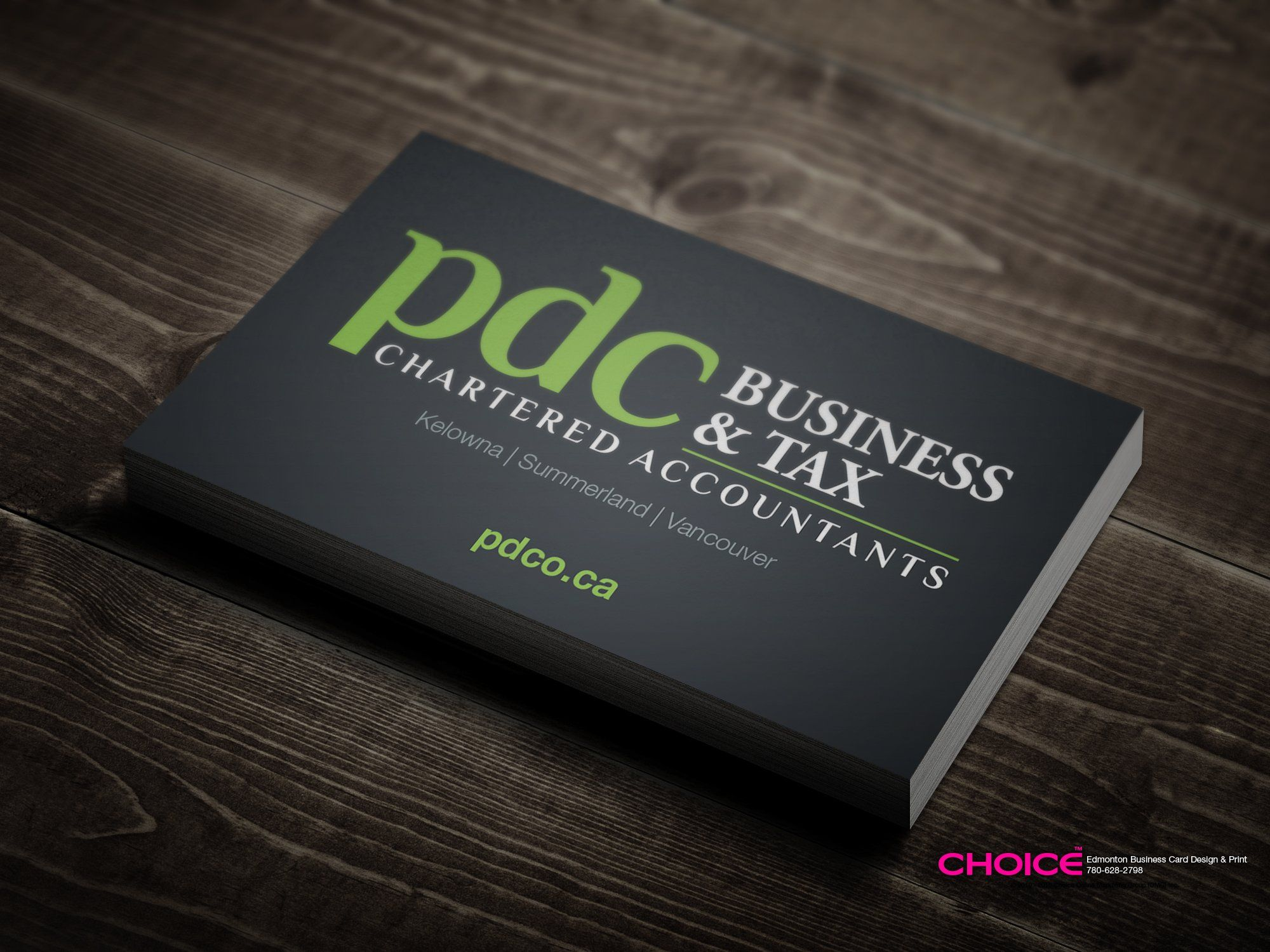 Business Card Design for Accounting Firm
