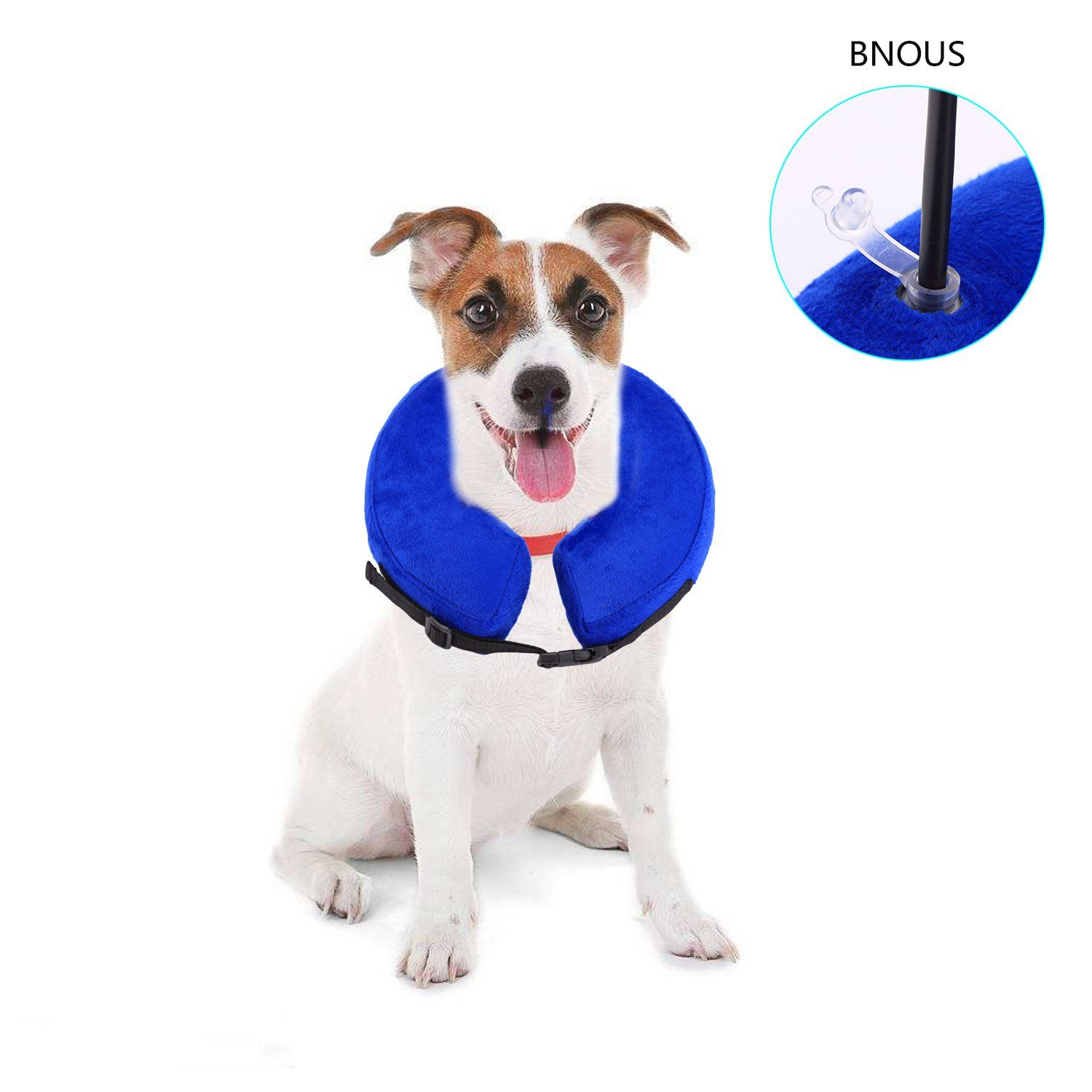 Petaz Inflatable Recovery Collar Dog Elizabethan Collar Postoperative Wound Healing Comfortable Soft Ecollar For All Size Dogs Cats M Dog Cat Cat Collars Cats