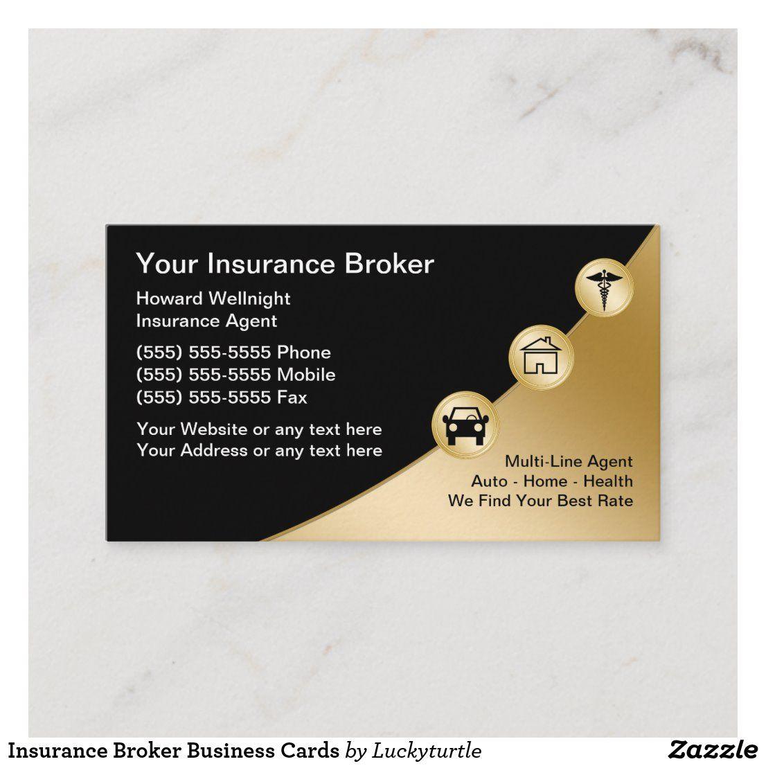 Insurance Broker Business Cards Zazzle Com Insurance Broker Brokers Business Insurance