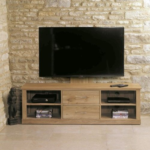 buy baumhaus mobel oak mounted widescreen television cabinet online by baumhaus furniture from cfs uk at unbeatable price