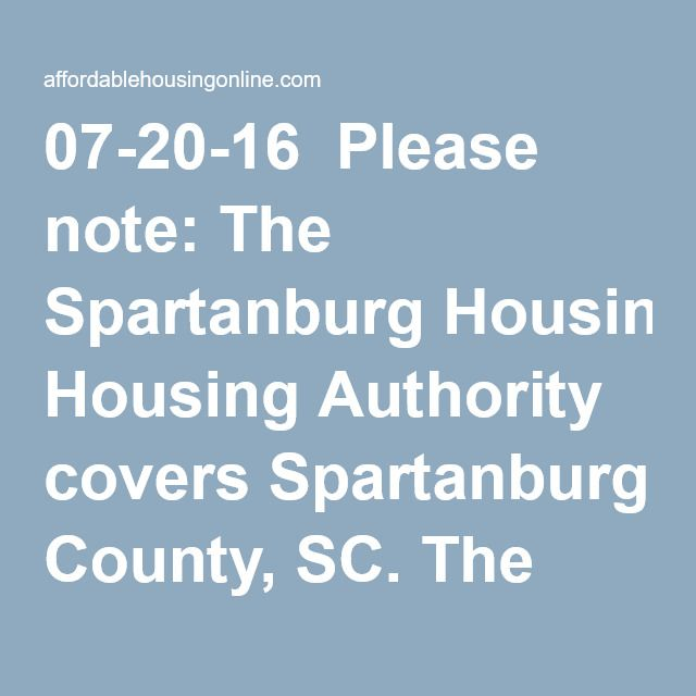Spartanburg Housing Authority In South Carolina Spartanburg Author South Carolina