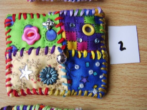 patchwork brooch number 2 by MrsBellybuttonsfluff on Etsy, $12.00