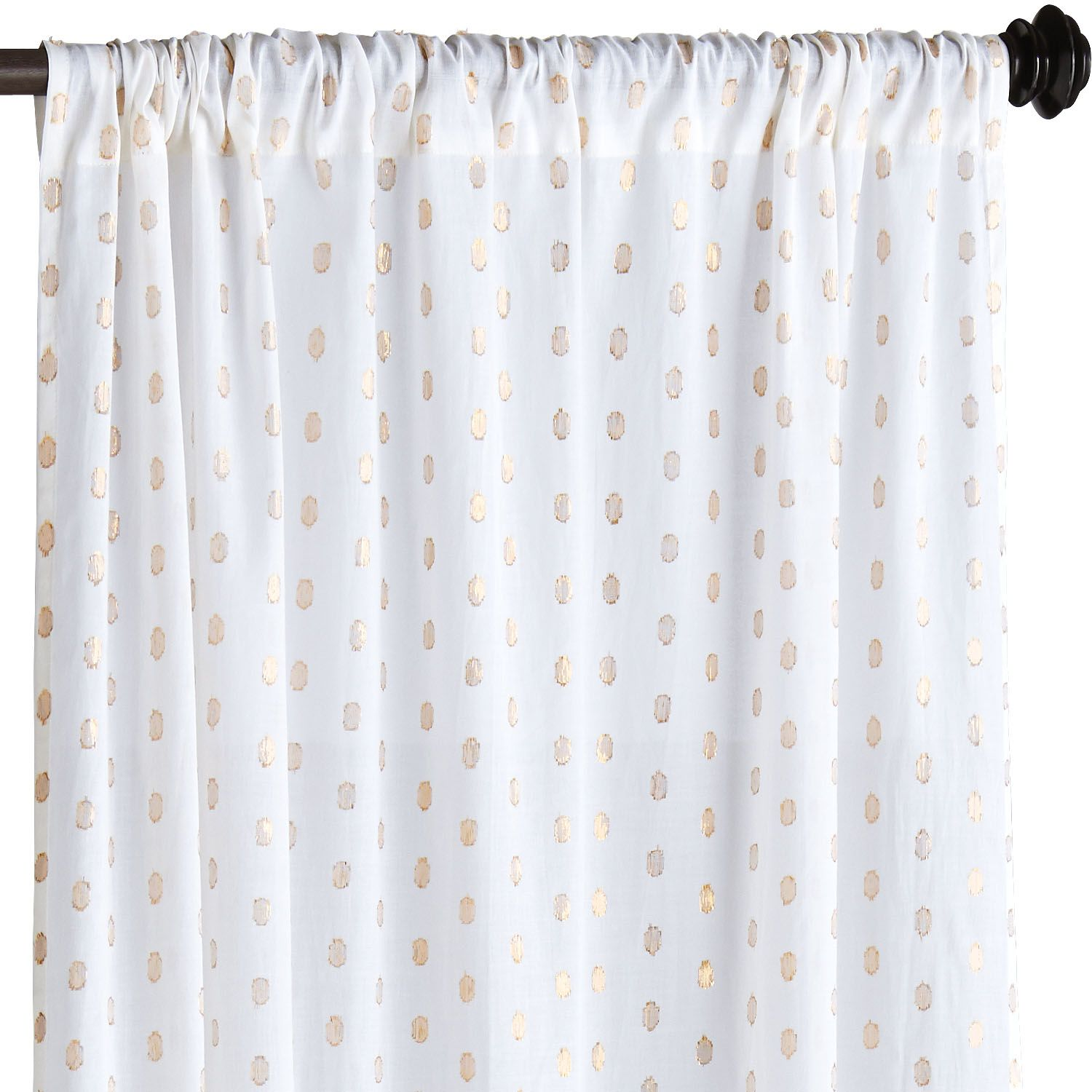 metallic dots curtain - blue | dots, curtains and blue