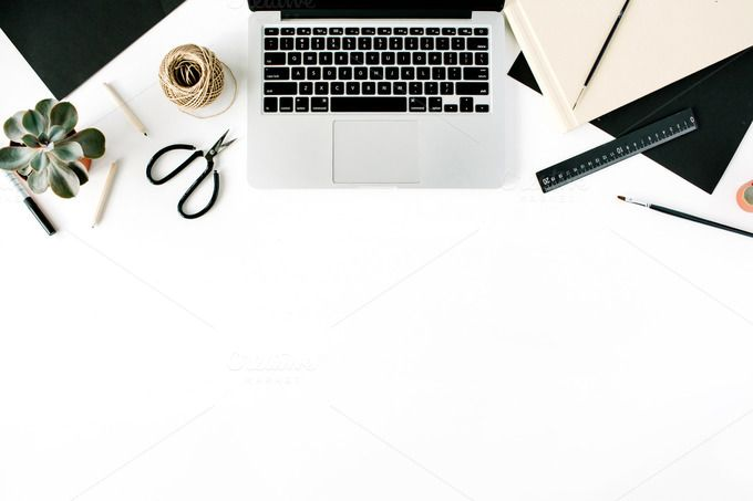 Flat Lay Workspace With Laptop Linkedin Background Wallpaper Powerpoint Iphone Background Wallpaper