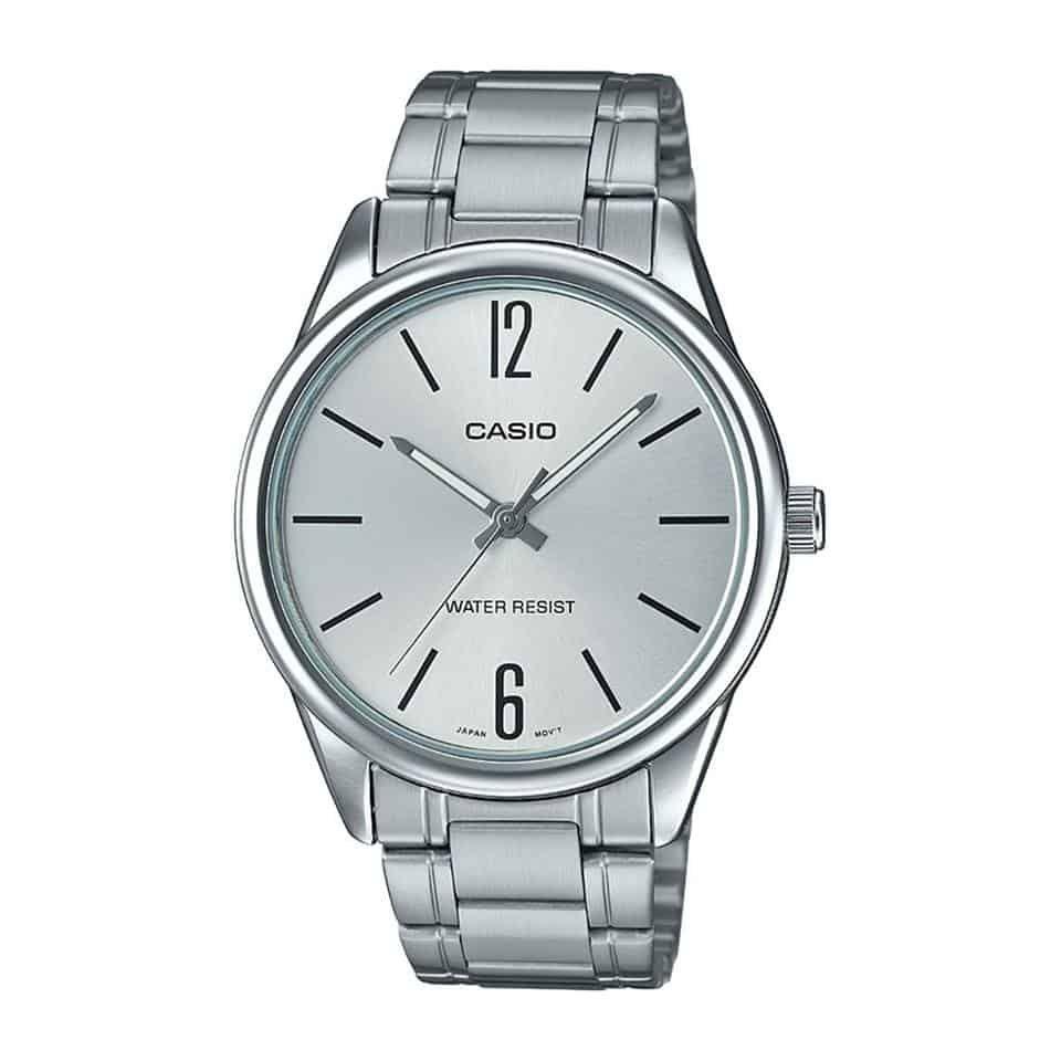 ee90366911e Relógio Casio Collection Masculino Prata Analógico MTP-V005D-7BUDF Por  R   71