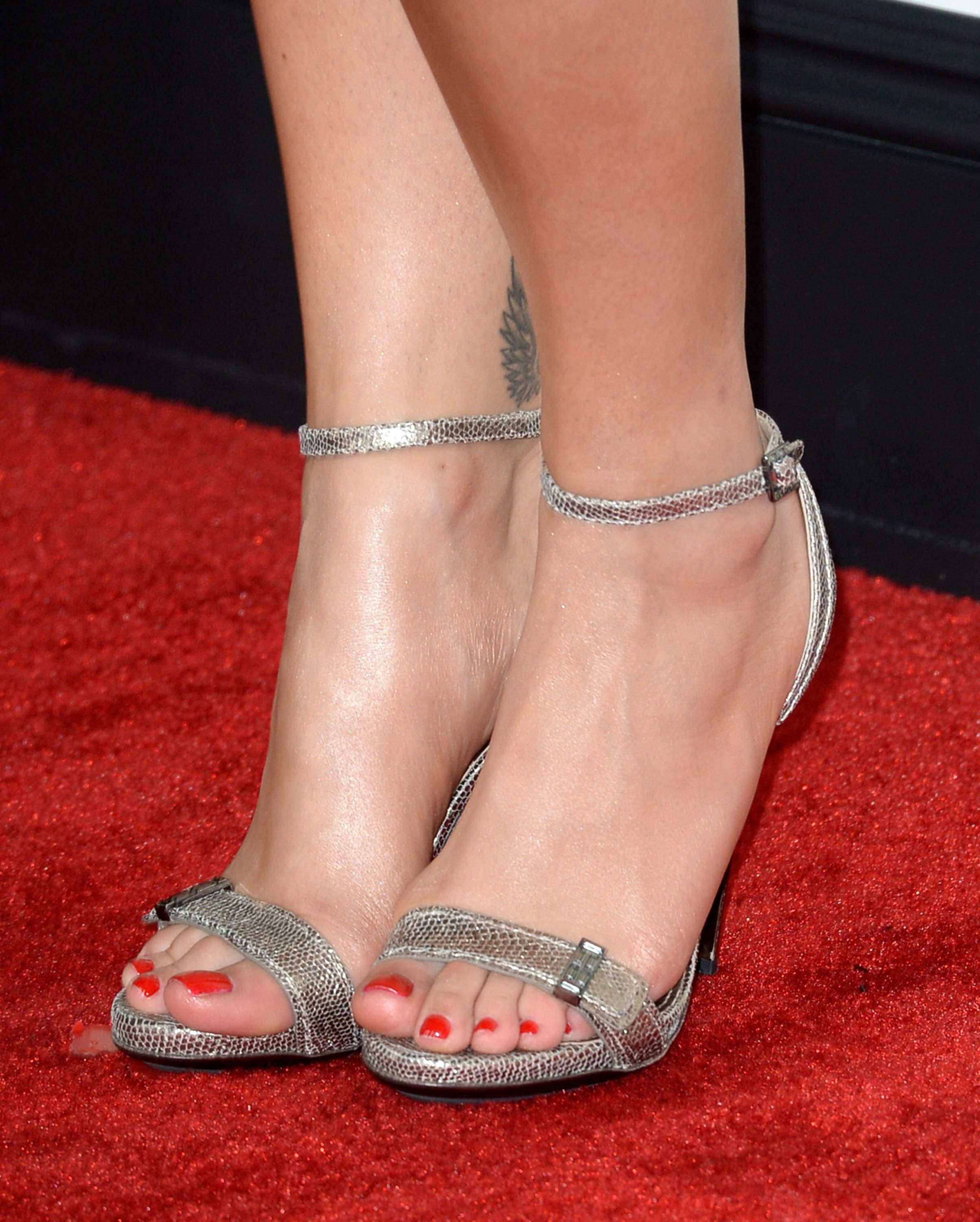 Town Shoes Red Carpet Silver T Strap