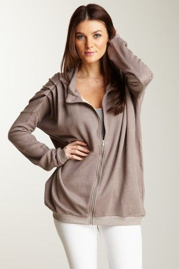French Terry Zip Front Tunic on HauteLook