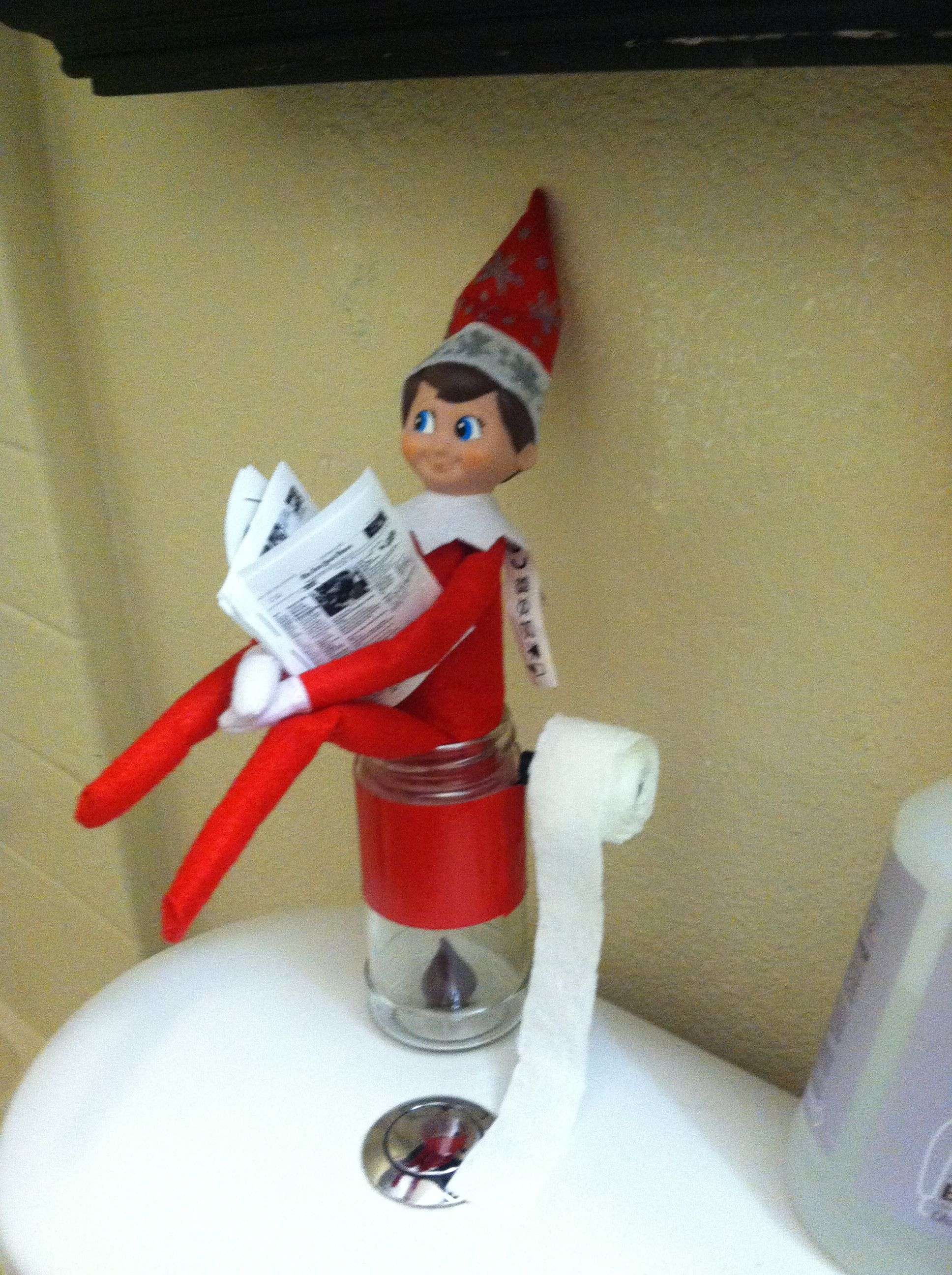 Elf On The Shelf Pooping While Reading The New York