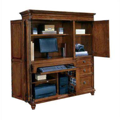 Amazon.com: Antigua West Indies Cherry Computer Armoire West Indies Cherry:  Furniture U0026