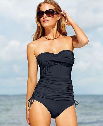 39a41edb7e9d8 Anne Cole Twist-Front Ruched Tankini Top & Side-Tie Brief Bottom - Swimwear  - Women - Macy's