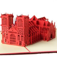 c0dc93e96 ( 10 peças/lote ) frete grátis Creative 3D inglaterra abadia de Westminster  construção de negócios cartão cartão de presente para o amigo(China  (Mainland))
