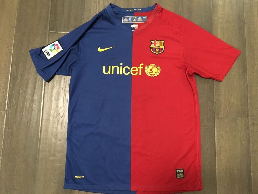 bb4d592ca6d Vintage Nike Fit Dry FCB unicef Soccer youth Age 13 15 jersey Size XL  Nike   Unicef