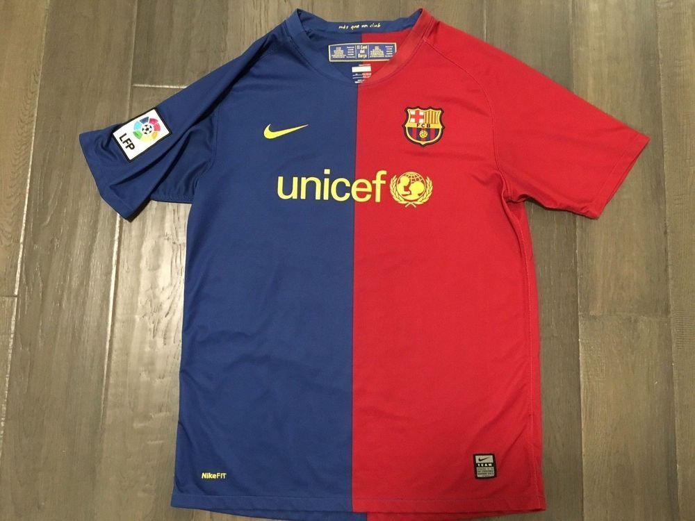 889f426434c Vintage Nike Fit Dry FCB unicef Soccer youth Age 13/15 jersey Size XL #Nike  #Unicef