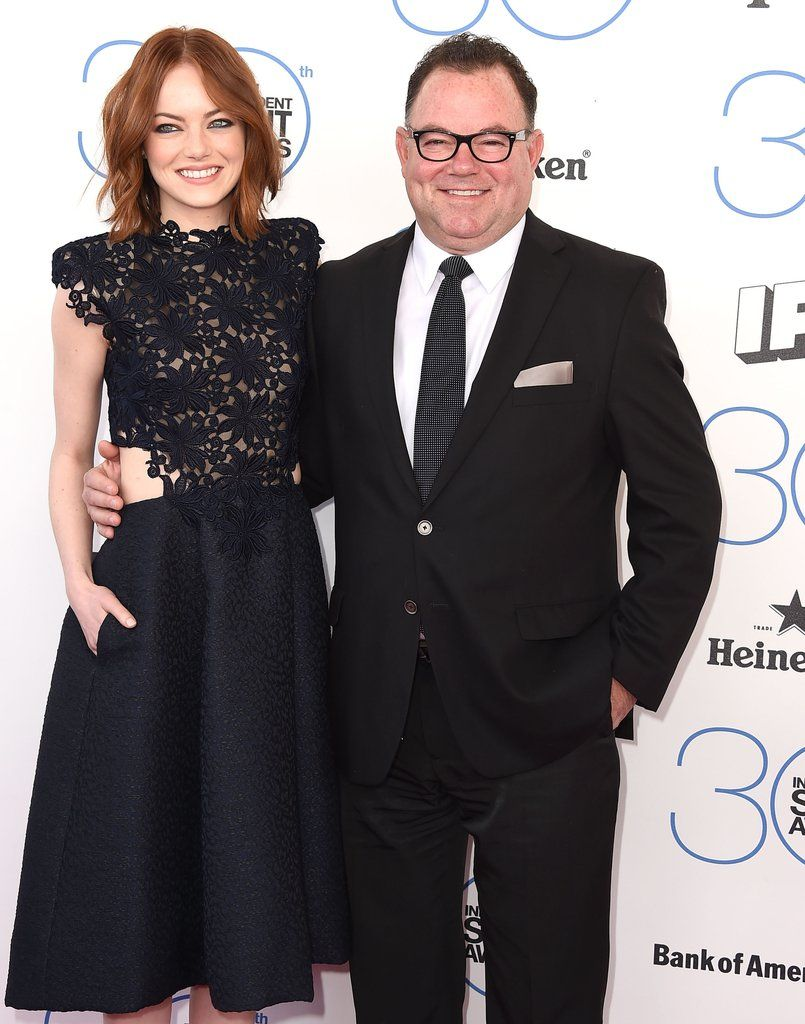 Emma Stone With Her Father Jeff