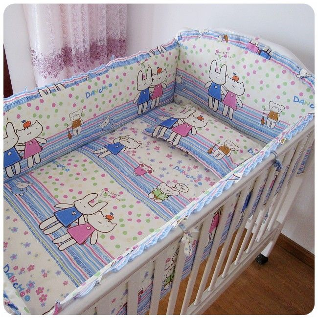 6pcs Baby Bedding Set Curtain Crib Per Cot Sets Bed