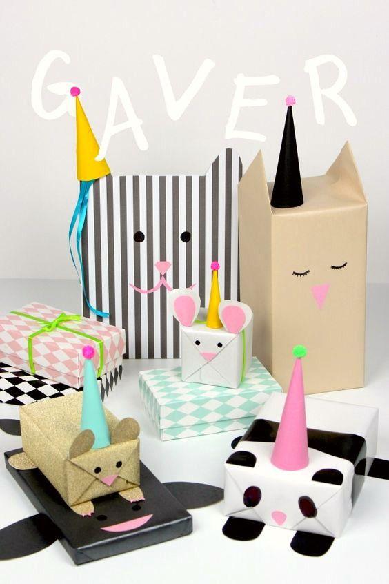 Envolver Los Regalos de los peques -18 ideas originales y divertidas - envoltura de regalos originales