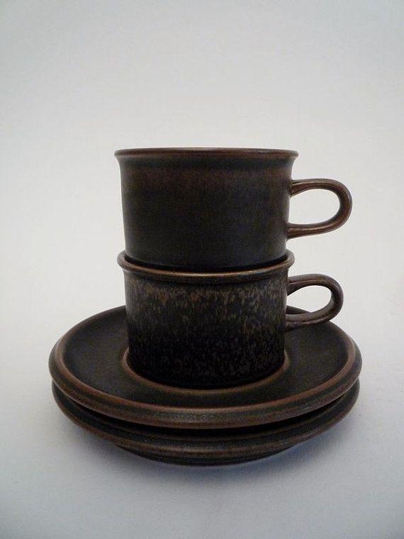 Dinnerware · Vintage Arabia Finland Ruska ... & Pair of Vintage Arabia Finland Ruska Cups | Finland Cups and Vintage