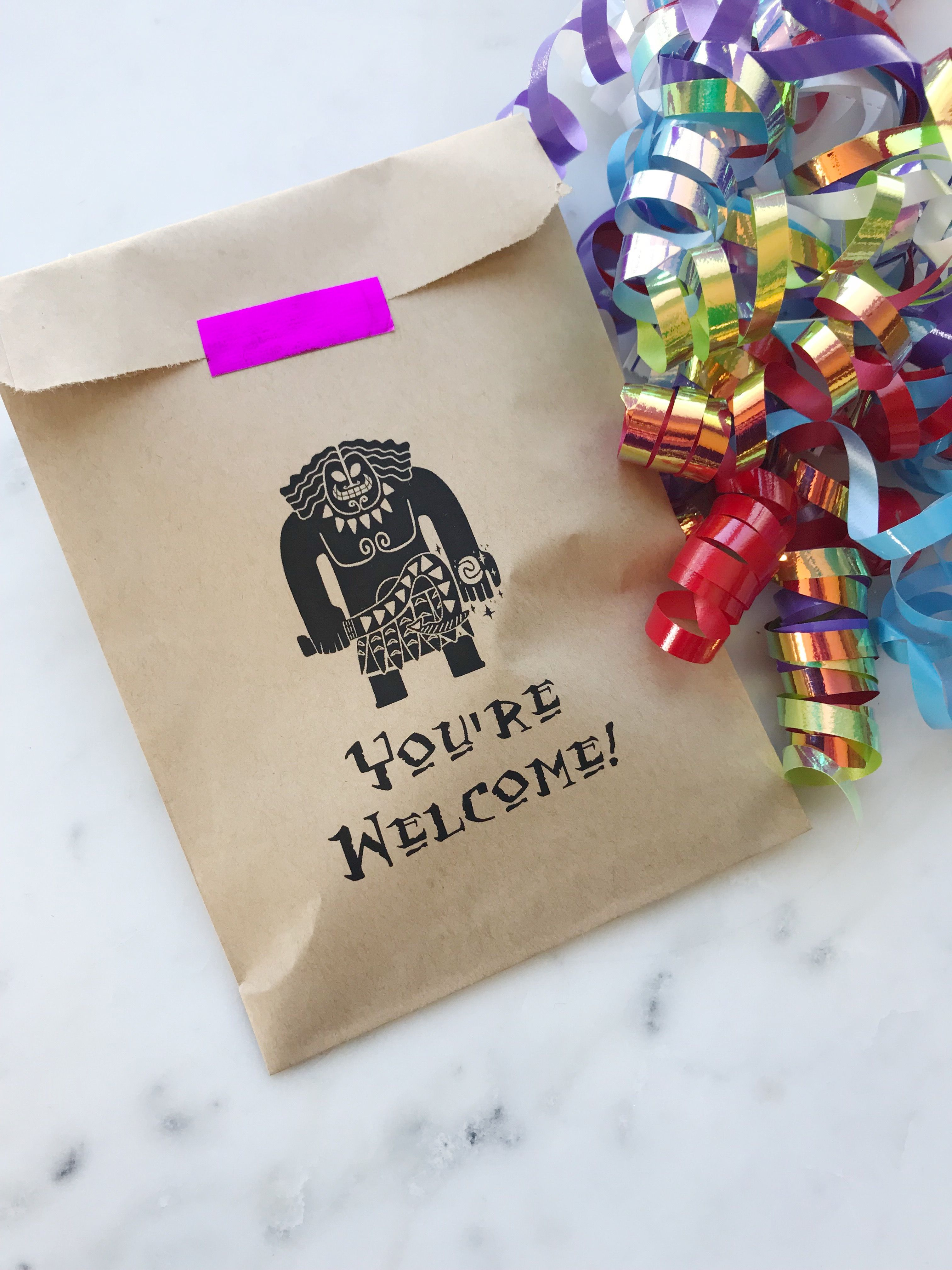 Moana Birthday Favor Bags These Are Custom Made Youre Welcome Maui Perfect For A Themed Celebration