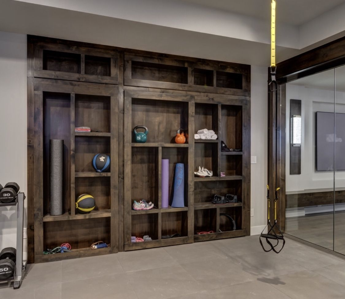 Storage Ideas #BasementGymDesign