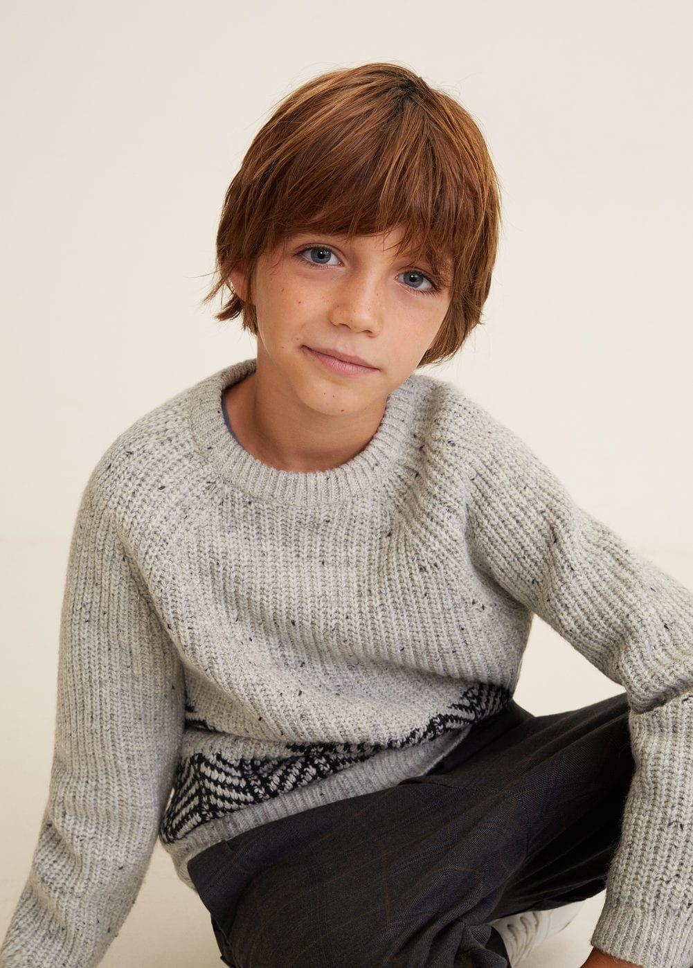 Pullover im Strick-Mix | Jungen pullover, Kind mode und ...