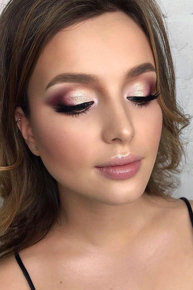 30 Beach Wedding Makeup Chic Ideas -   10 makeup Wedding burgundy ideas