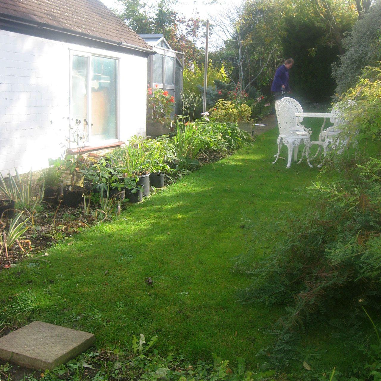 Before Small garden, Ewell. (Chessington Garden Centre