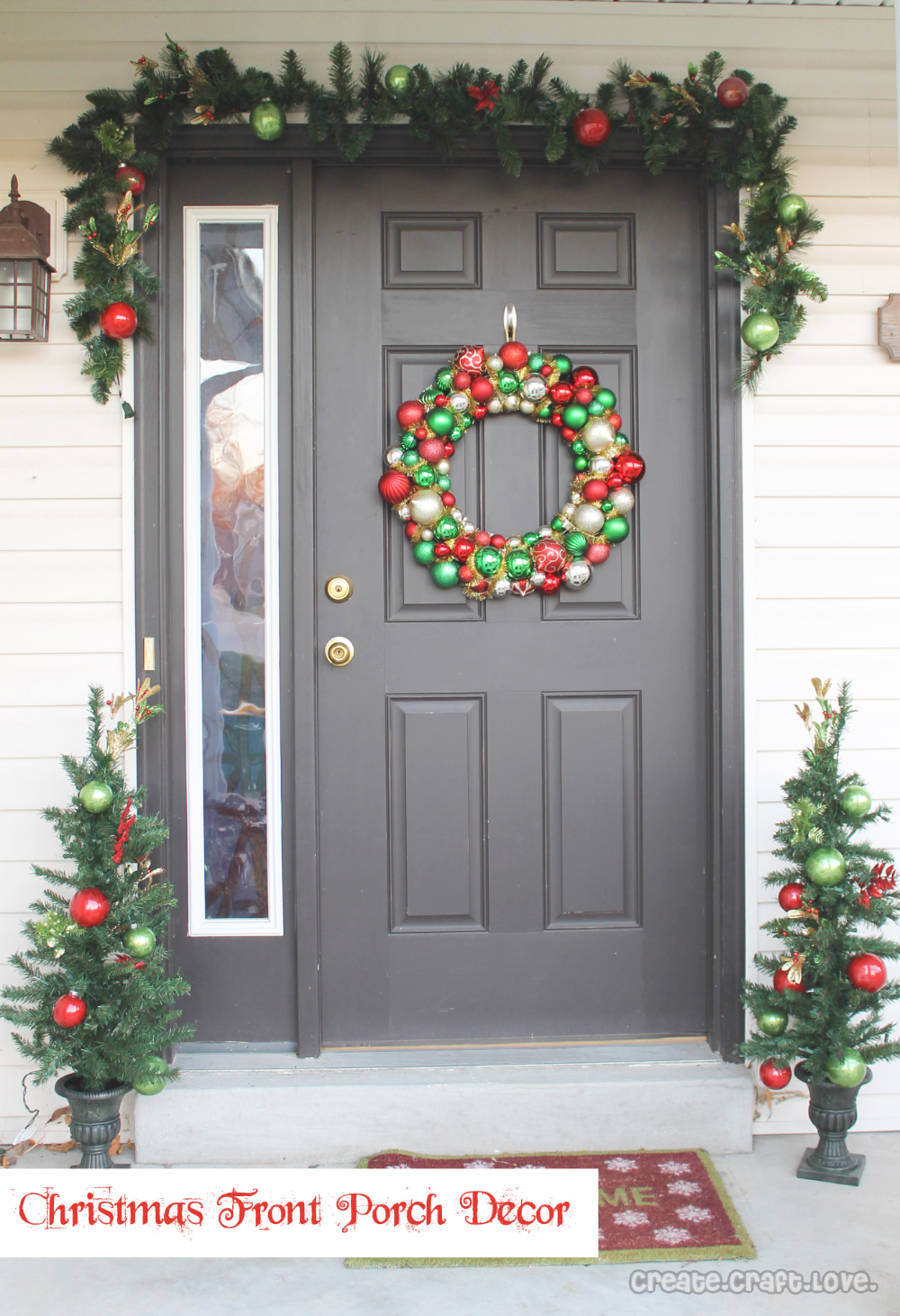 Christmas Decorating Ideas For Small Front Porch High School Mediator On A B In 2020 Front Porch Christmas Decor Christmas Porch Decor Front Door Christmas Decorations