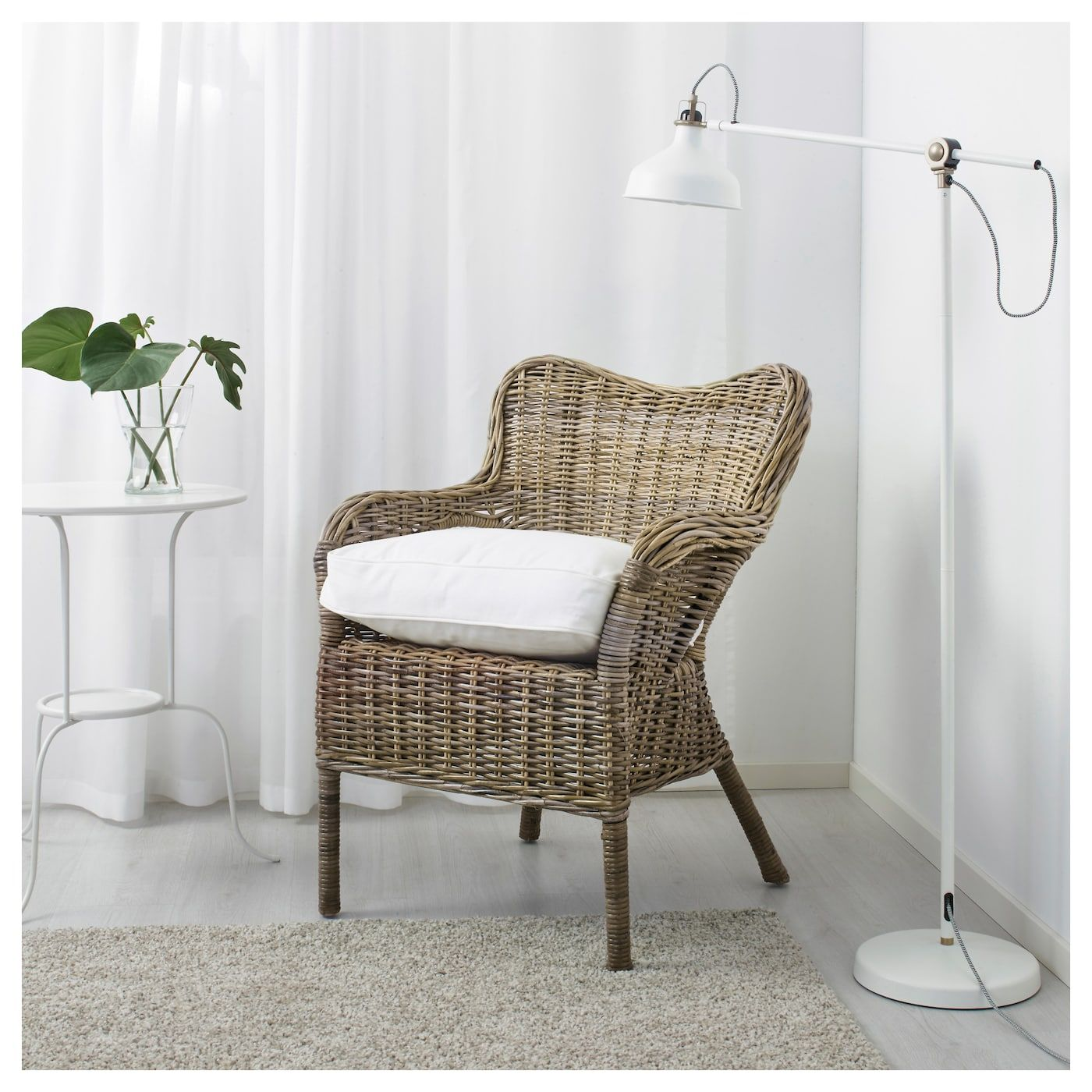IKEA BYHOLMA Armchair gray, white Grey armchair, Ikea